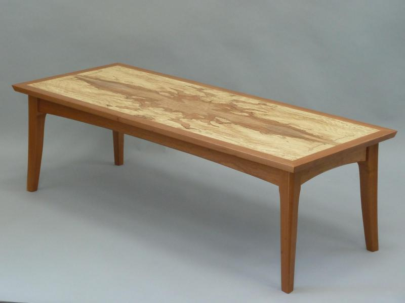 Hilltop Coffee Table in cherry and spalted maple