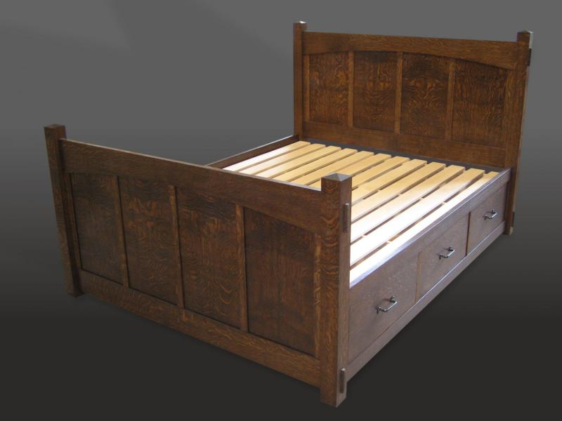 Arts and Crafts style bed